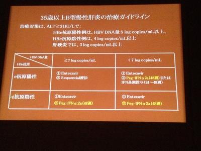 2012年B型慢性肝炎治療ガイドライン案3